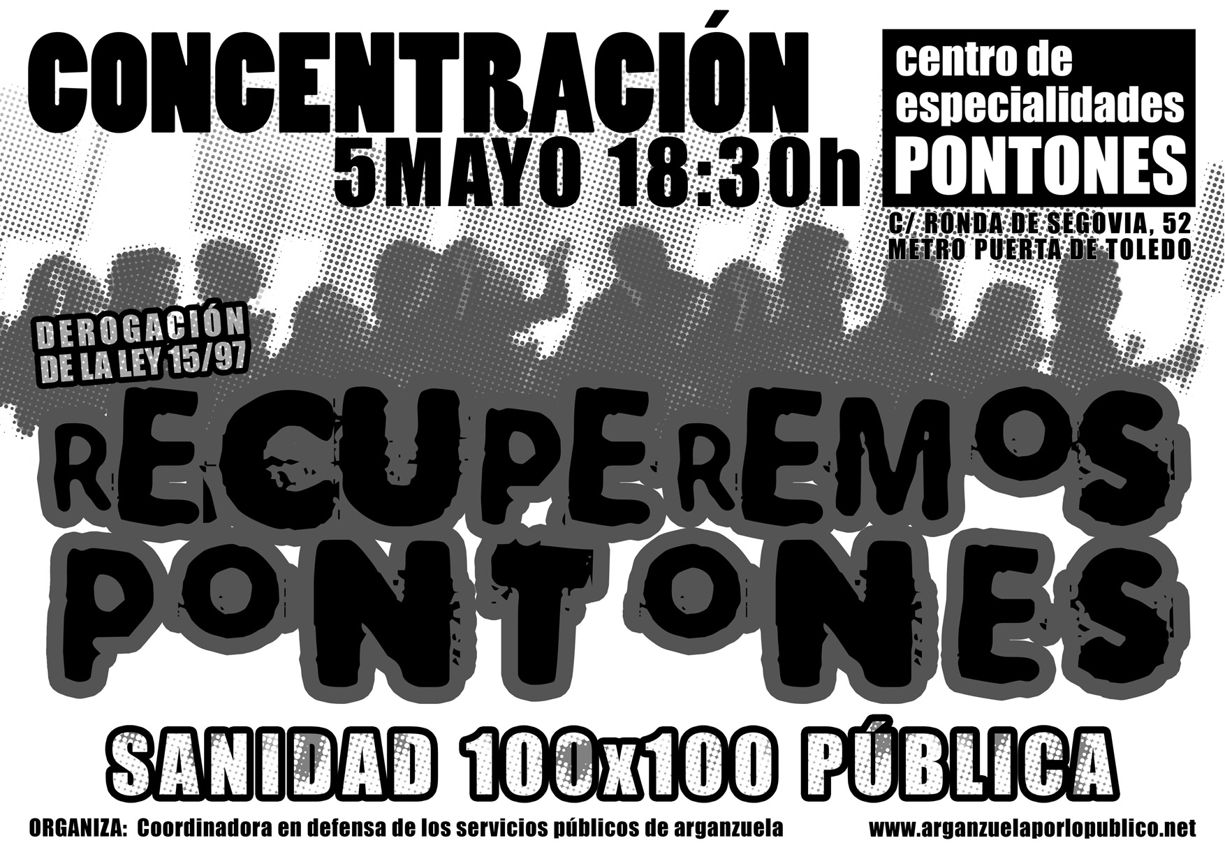 Actos por la Sanidad Pblica en Abril y Mayo.