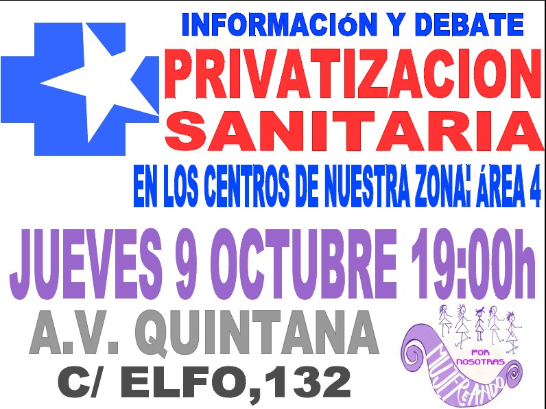 Charla sobre la privatizacin de los Centros de Salud en el rea 4. AV. de Quintana.