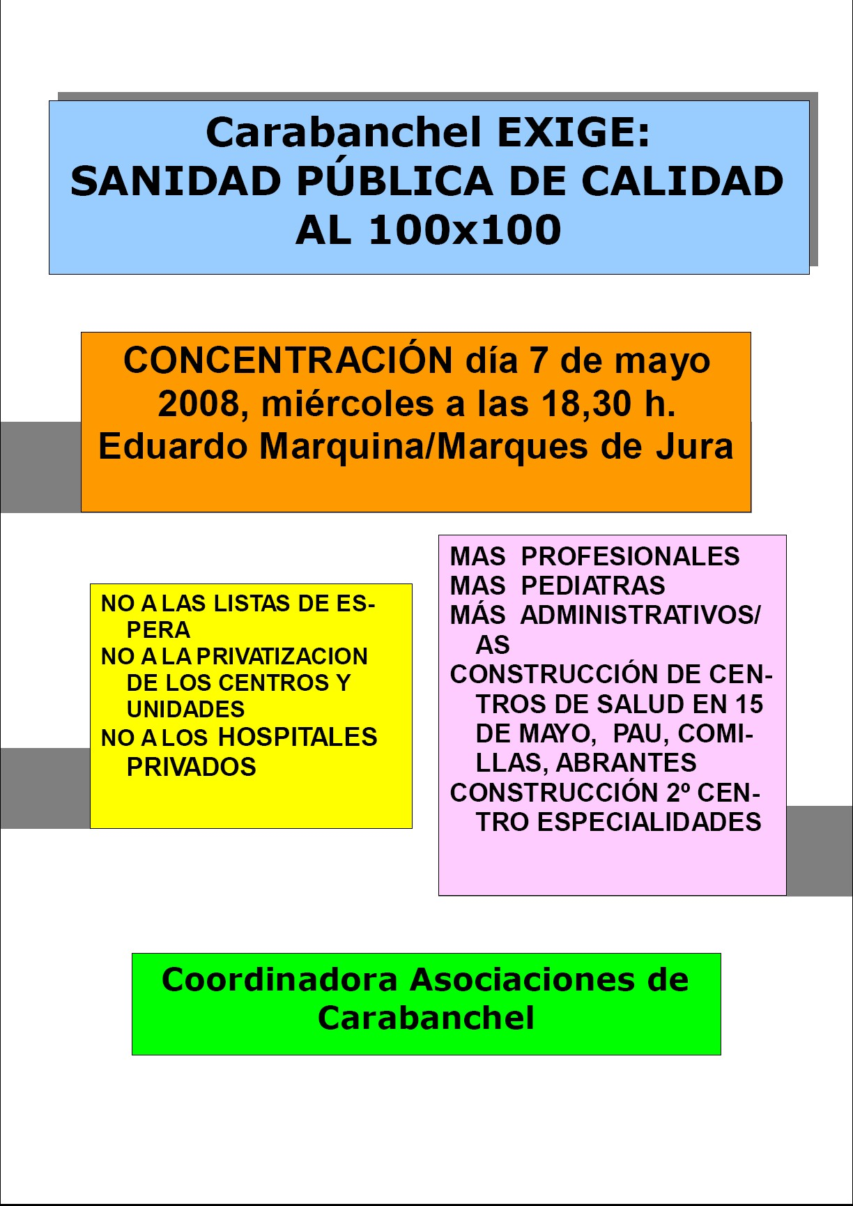 CONTRA LA PRIVATIZACIN DE LA SANIDAD PBLICA.